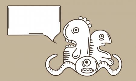 dientes sucios: monster doodle de