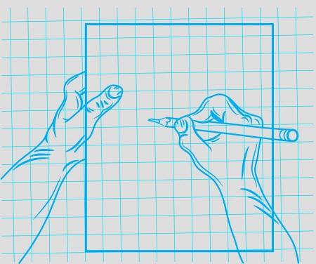 doodle hand writes Illustration