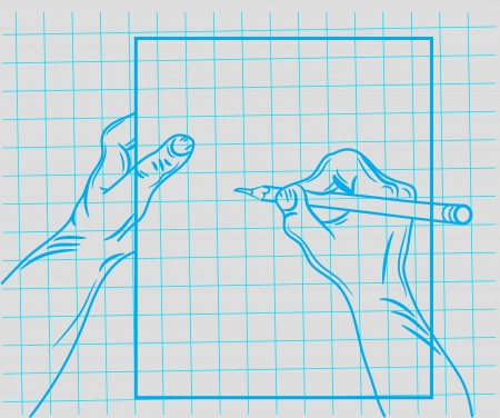doodle hand writes Stock Vector - 19823211
