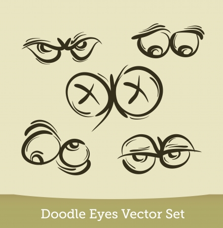 doodle eyes set