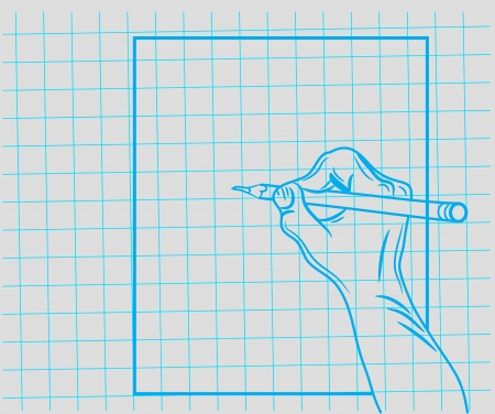 dictate: doodle hand writes Illustration