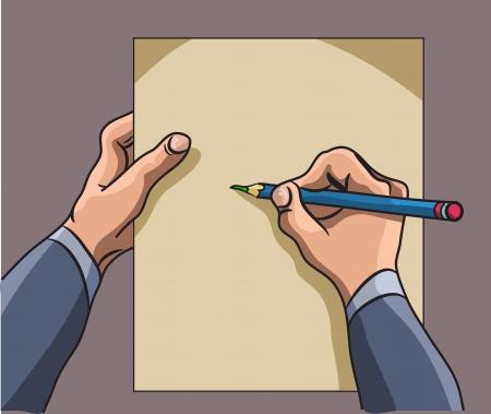 dictate: hand writes Illustration