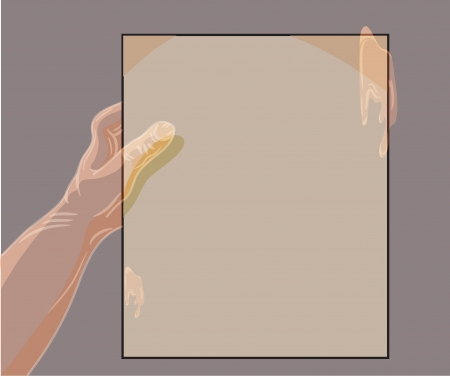 ghost hand holding a piece of paper Vector