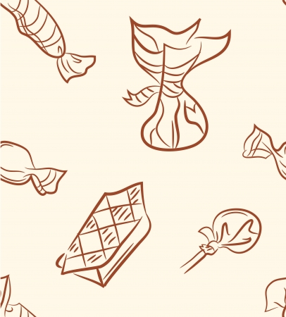 doodle candy set  Seamless pattern