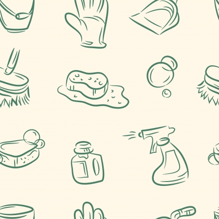 doodle clean set  Seamless pattern Vector