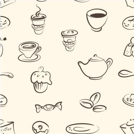 Set di cavi Doodle seamless pattern Archivio Fotografico - 19823360