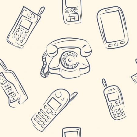 hadron: seamless pattern  doodle phone set