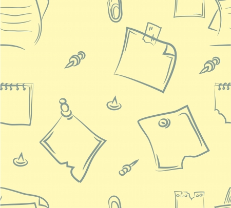 doodle paper reports set  Seamless pattern