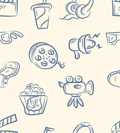 movie set: doodle movie set  Seamless pattern