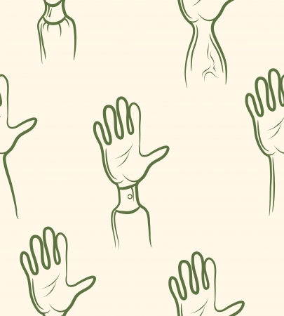 doodle volunteer arm set  Seamless pattern Stock Vector - 19823326