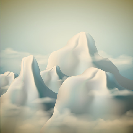 european alps: Realistic  mountain range background .