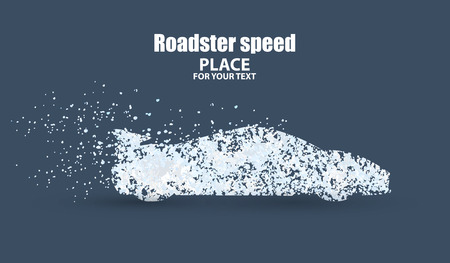 roadster: Roadster , symbolizing speed vector illustration. Illustration