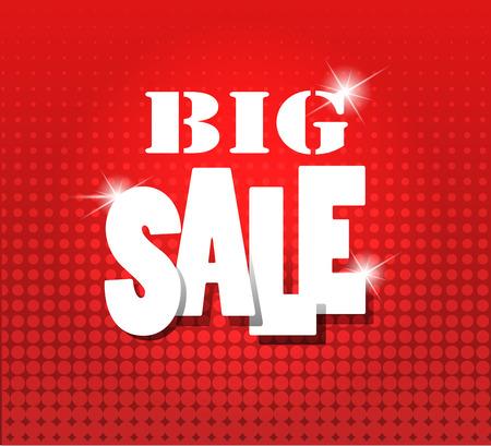 red grunge background: Big sale over red grunge background.