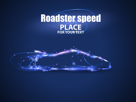 Motion design. Roadster particles, symbolizing speed.