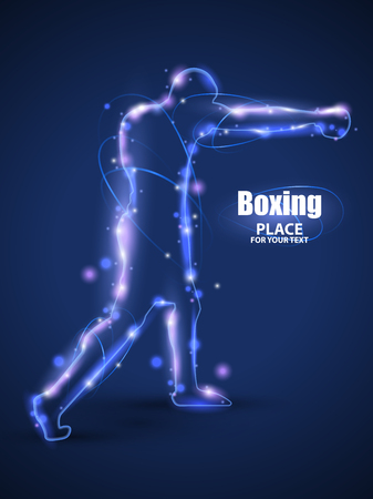 light ray: Motion design.Abstract boxing from dot,Blur and light.