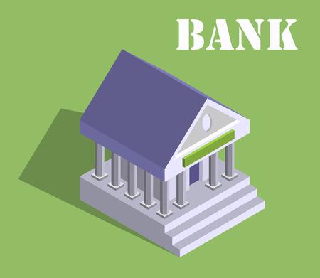 monetary concept: Bank finance money flat 3d web isometric infographic banking monetary concept vector.