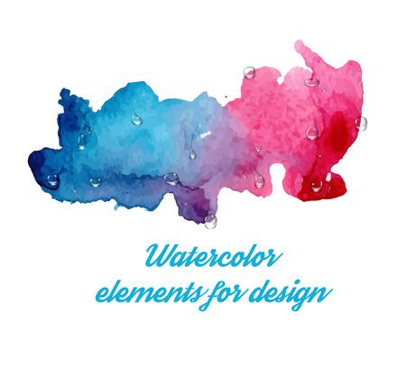 original single: Abstract watercolor splash. Watercolor drop. Vector illustration Illustration