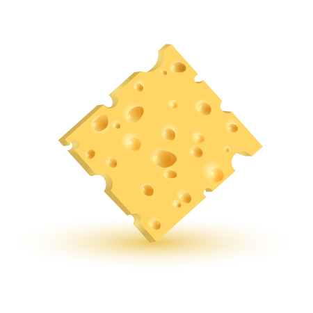 piece of cheese. Vector