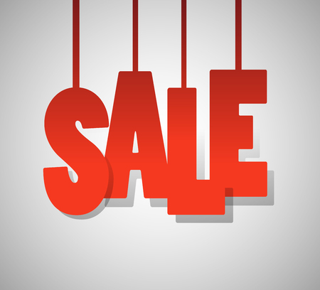 bargains: red text SALE on gray background