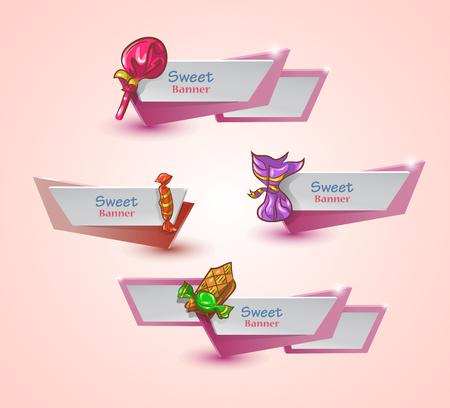 Sweet geplaatste banners