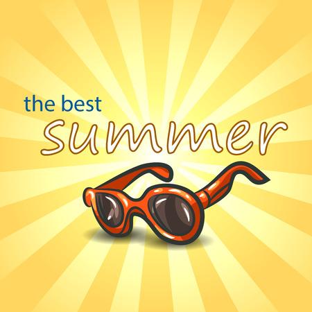 eyewear fashion: Summer background with sunglasses .  Vector illustration EPS10.
