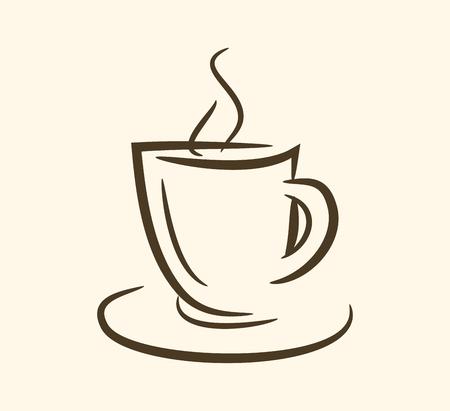 Cup of hot drink ,coffee, tea etc. vector eps10