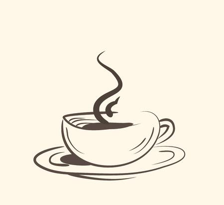Cup of hot drink ,coffee, tea etc. vector eps10 Vektorové ilustrace
