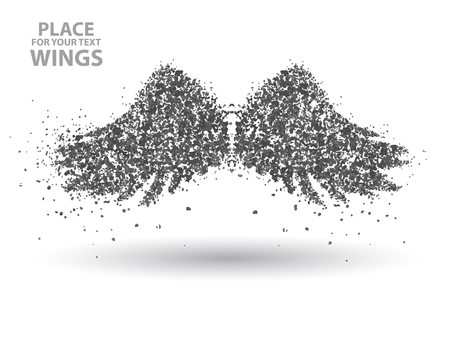 Particles of Wings,full  enterprising across significance vector illustration. Illustration