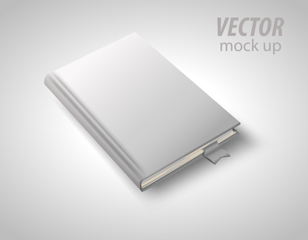 Blank book isolated on white to replace your design. Vector illustration .