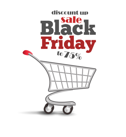 Special Discount template for sale. Black Friday banner.