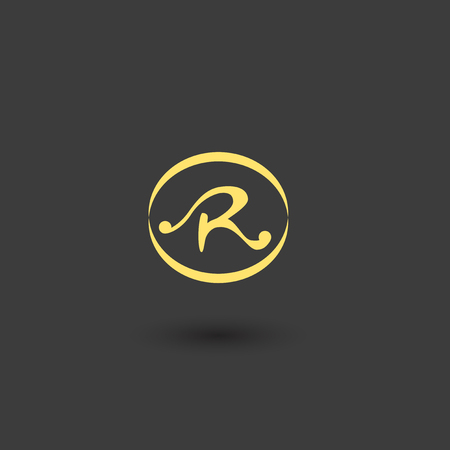 Letter R logo icon design Illustration