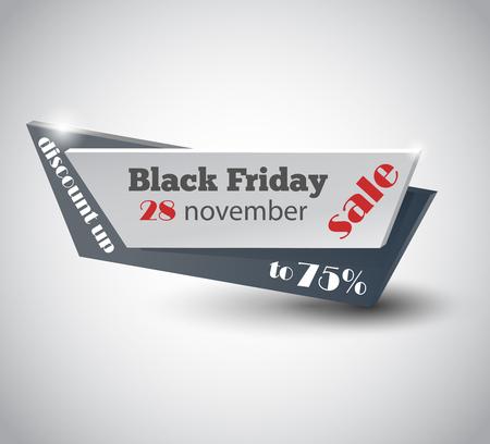Black Friday sale inscription design template. Black Friday banner. Vector illustration EPS10 Ilustração