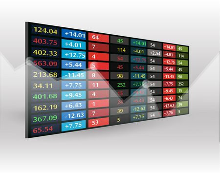 stock market price display background Illustration