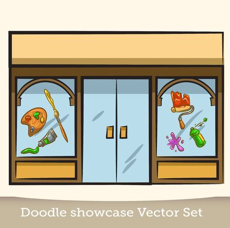 Doodle showcase roller rvector set
