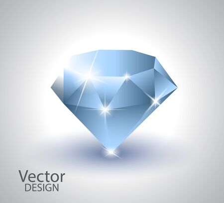 Beautiful diamond  white background vector illustration Imagens