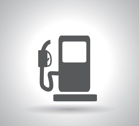 gas pump icon on white background Stock Vector - 126876831