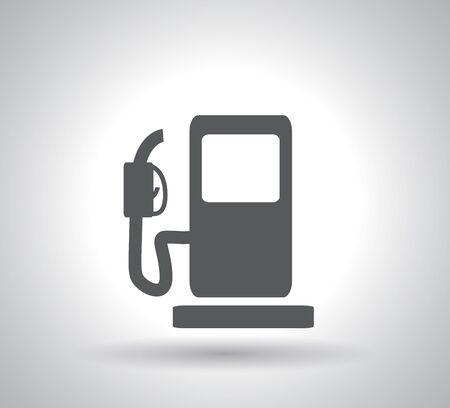 gas pump icon on white background Illustration