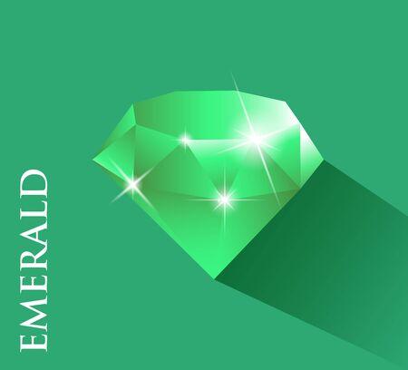 Emerald.Vector projekt z długim cieniem