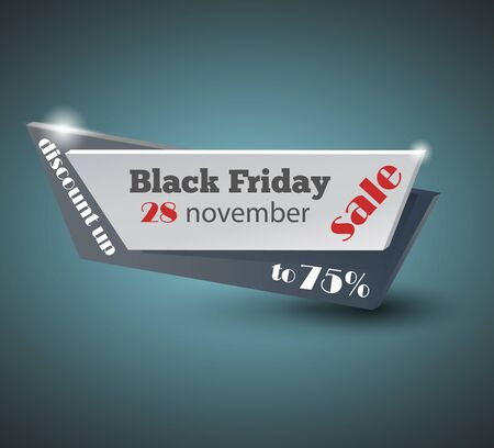 Black Friday sale inscription design template.   banner. Vector illustration Archivio Fotografico - 128475184
