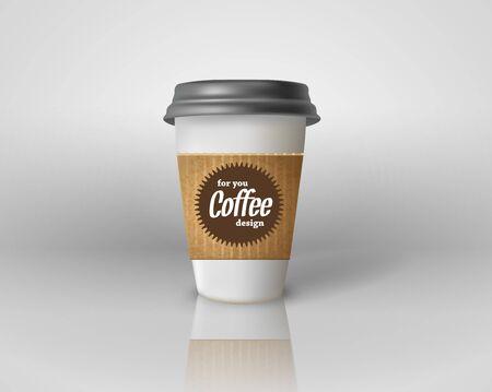 Realistic paper coffee cup isolated. Archivio Fotografico - 128475186