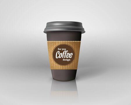 Realistic paper coffee cup isolated. Archivio Fotografico - 128475190