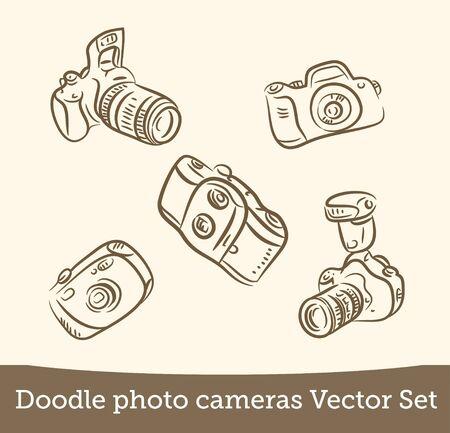 photo camera set isolated on white background. Vector EPS10