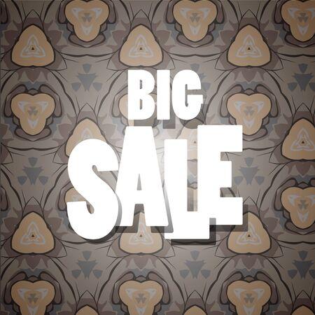 Sale banner template design, Big sale . Super Sale, end of season special offer banner. vector illustration. - Vector