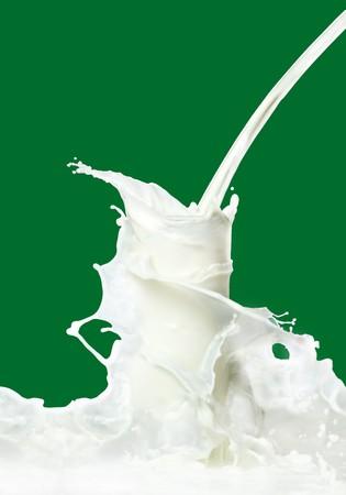 glass of milk: Milk splash