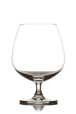 coctail: Glass on white