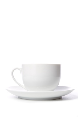 Coffee cup on white background