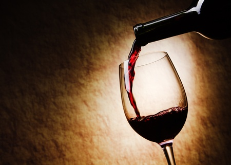 Red Wine glass and Bottle Stock Photo - 10060035