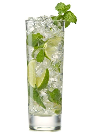 garnish: Mojito cocktail isolation on a white