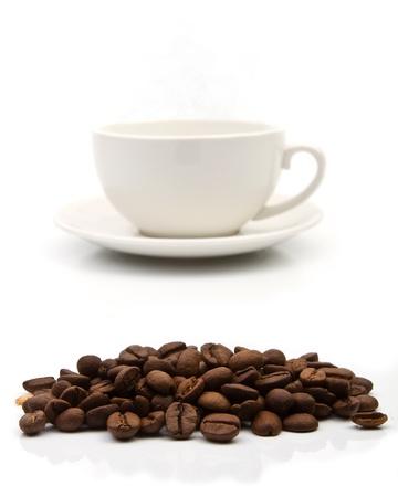 Kaffeetasse auf weißem Hintergrund Lizenzfreie Bilder