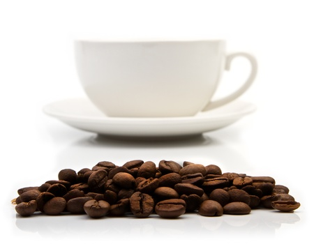 coffe: Coffee cup on white background